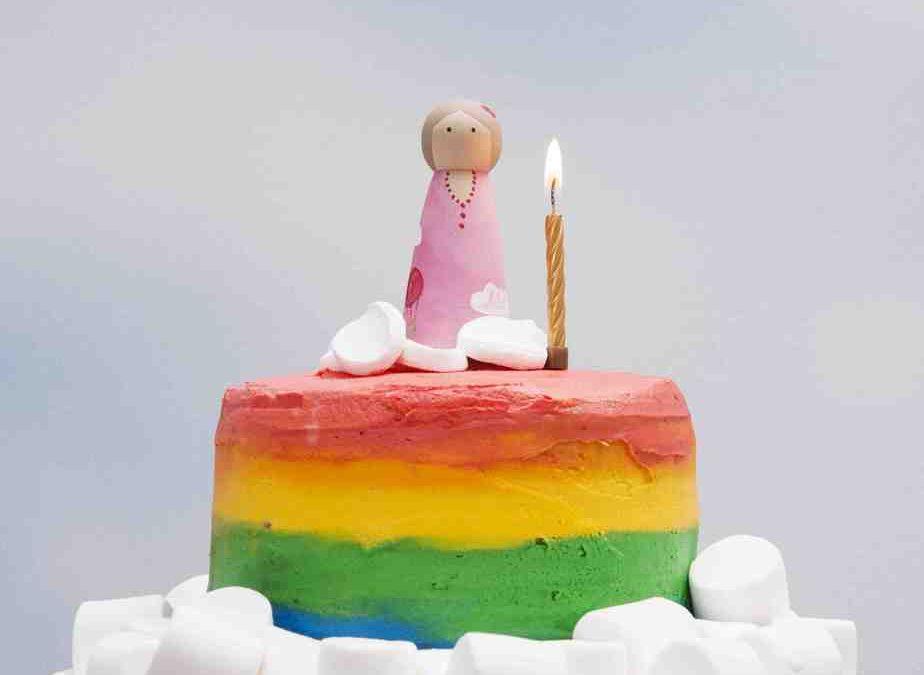 Up, Up and Away Rainbow Cake