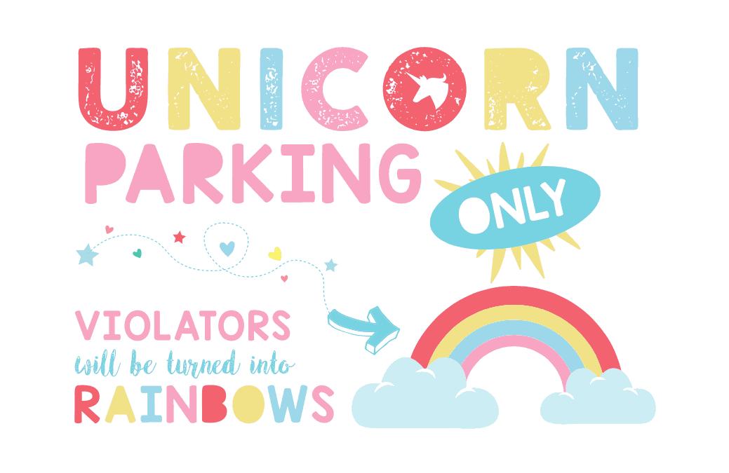 Fun: Unicorn Party Sign