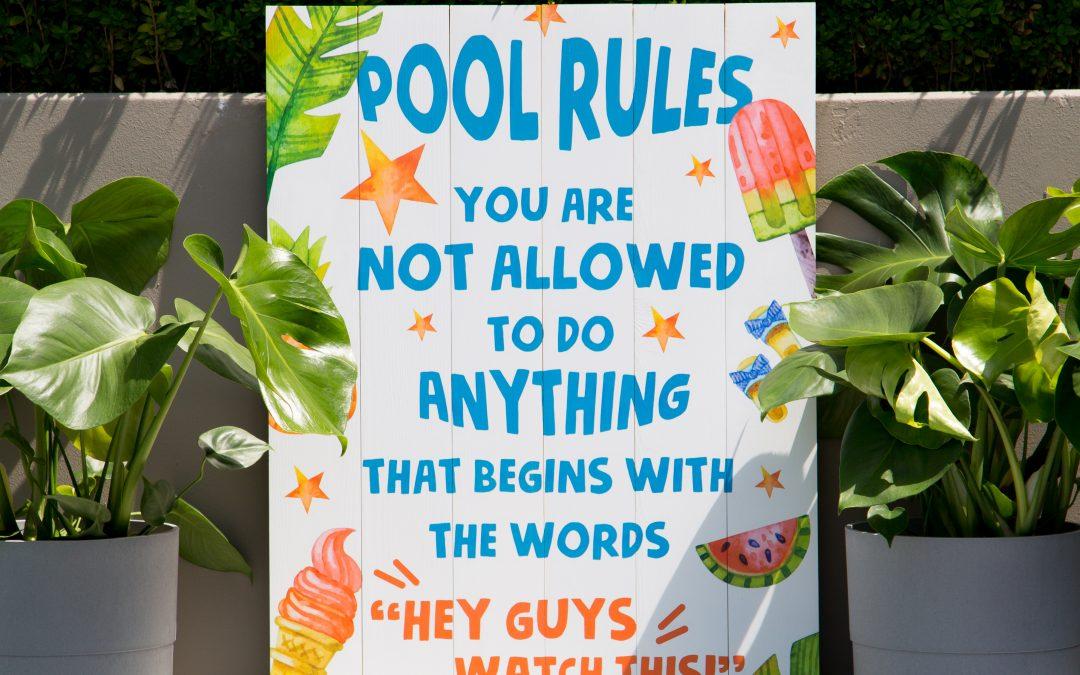 DIY – Pool Rules Sign