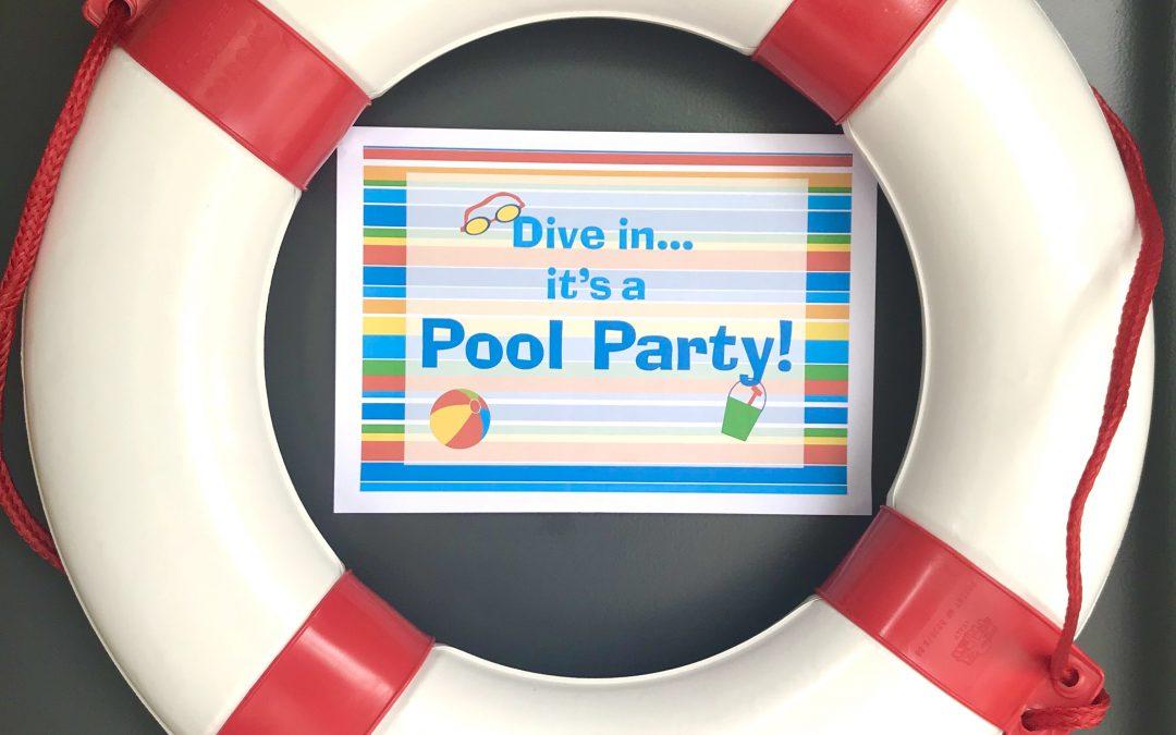 DIY – Pool Party Printables