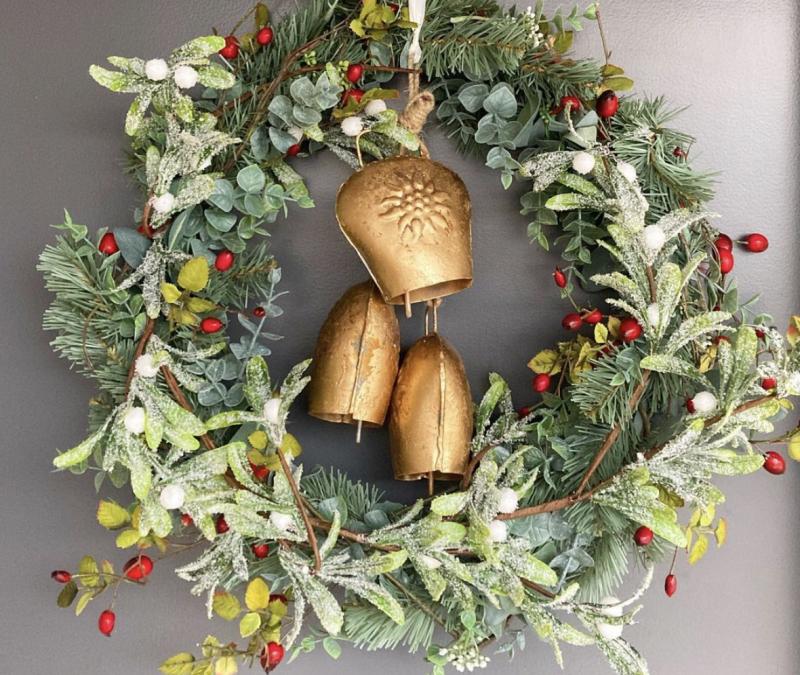 Friday Flowers – My Christmas Wreath